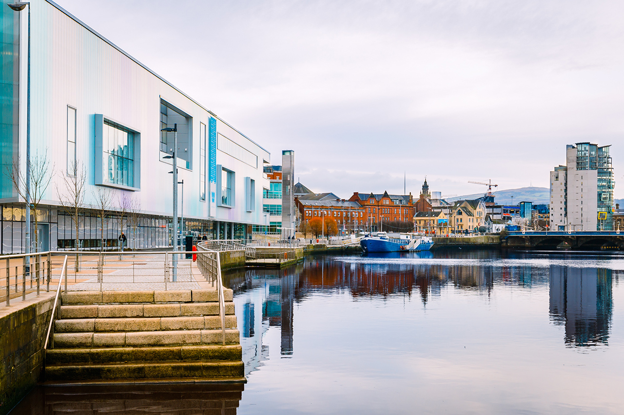 Belfast Waterfront Hall and River Lagan
