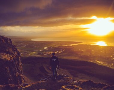 Binevenagh Mountain overlooking Magilligan Point on the North Coast of Northern Ireland