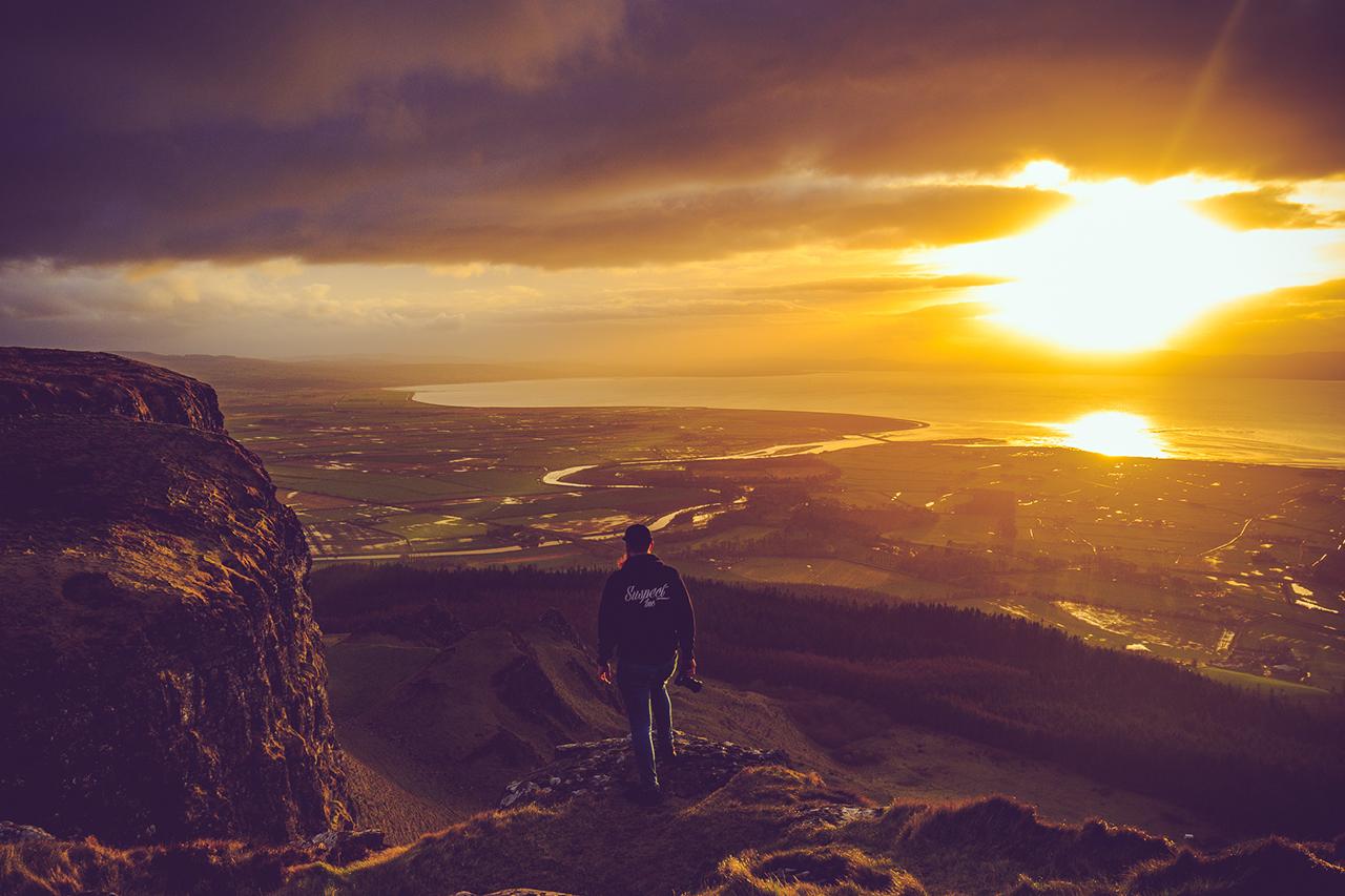Binevenagh Mountain overlooking Magilligan Point on the North Coast of Northern Ireland