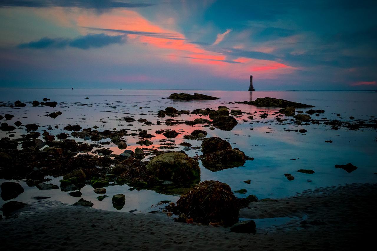 Cranfield Beach Lighthouse during Sunset