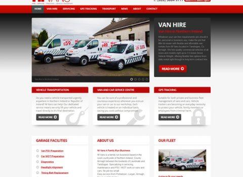 Business Website Design – NI Vans