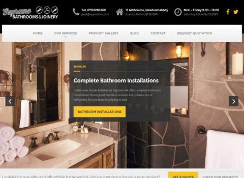 WordPress Website Design – Supreme NI