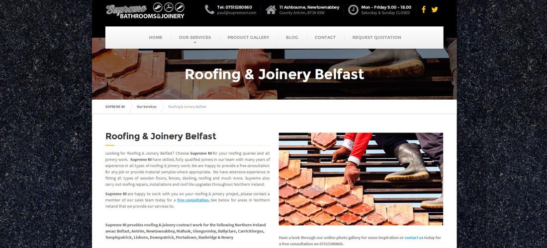 Website Design for Supreme Northern Ireland