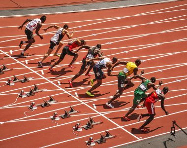 Men's 100M Sprint London 2012 Olympic Games - Event Photography