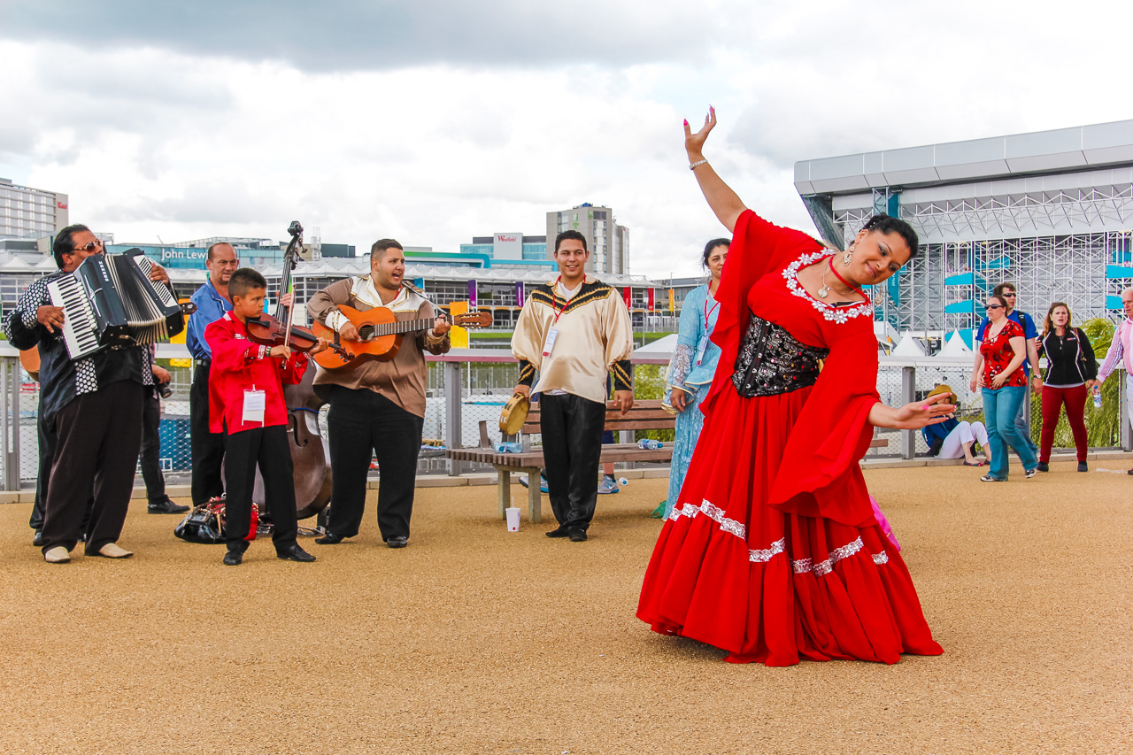 Dancers at Olympic Park, London 2012