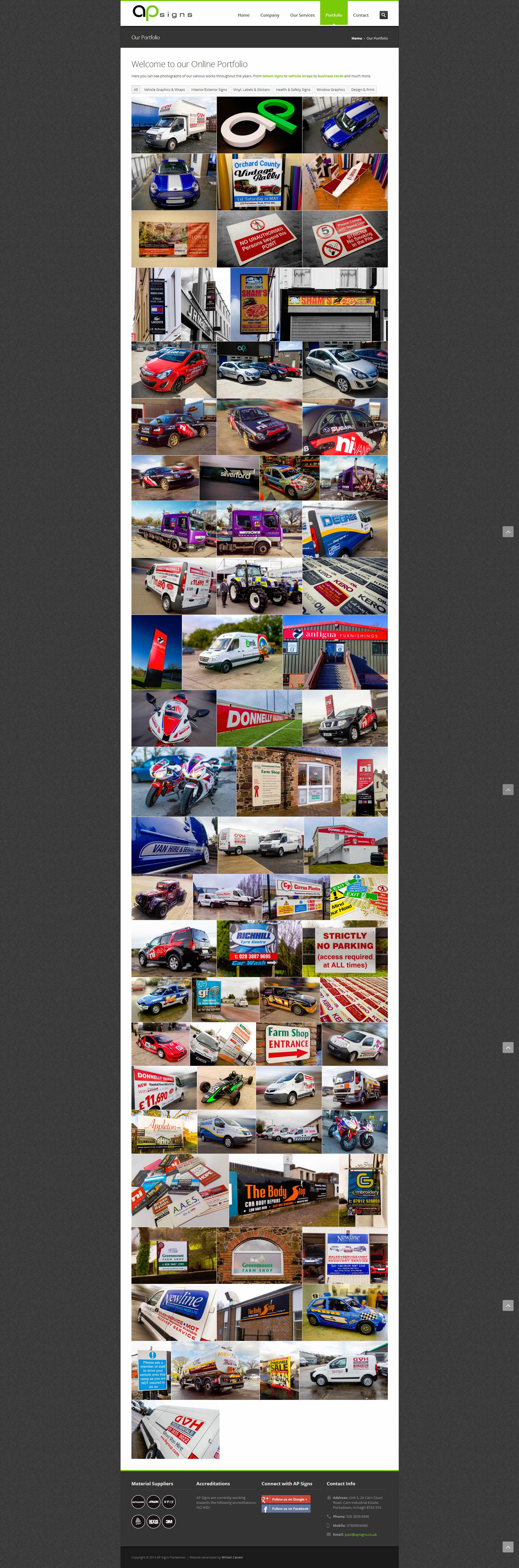 AP Signs Portadown - Photo Gallery