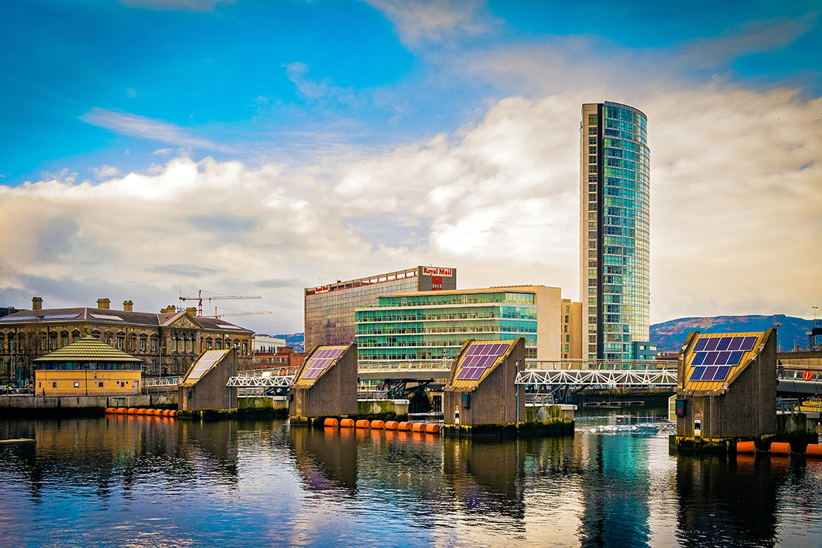 Belfast City Waterfront and River Lagan