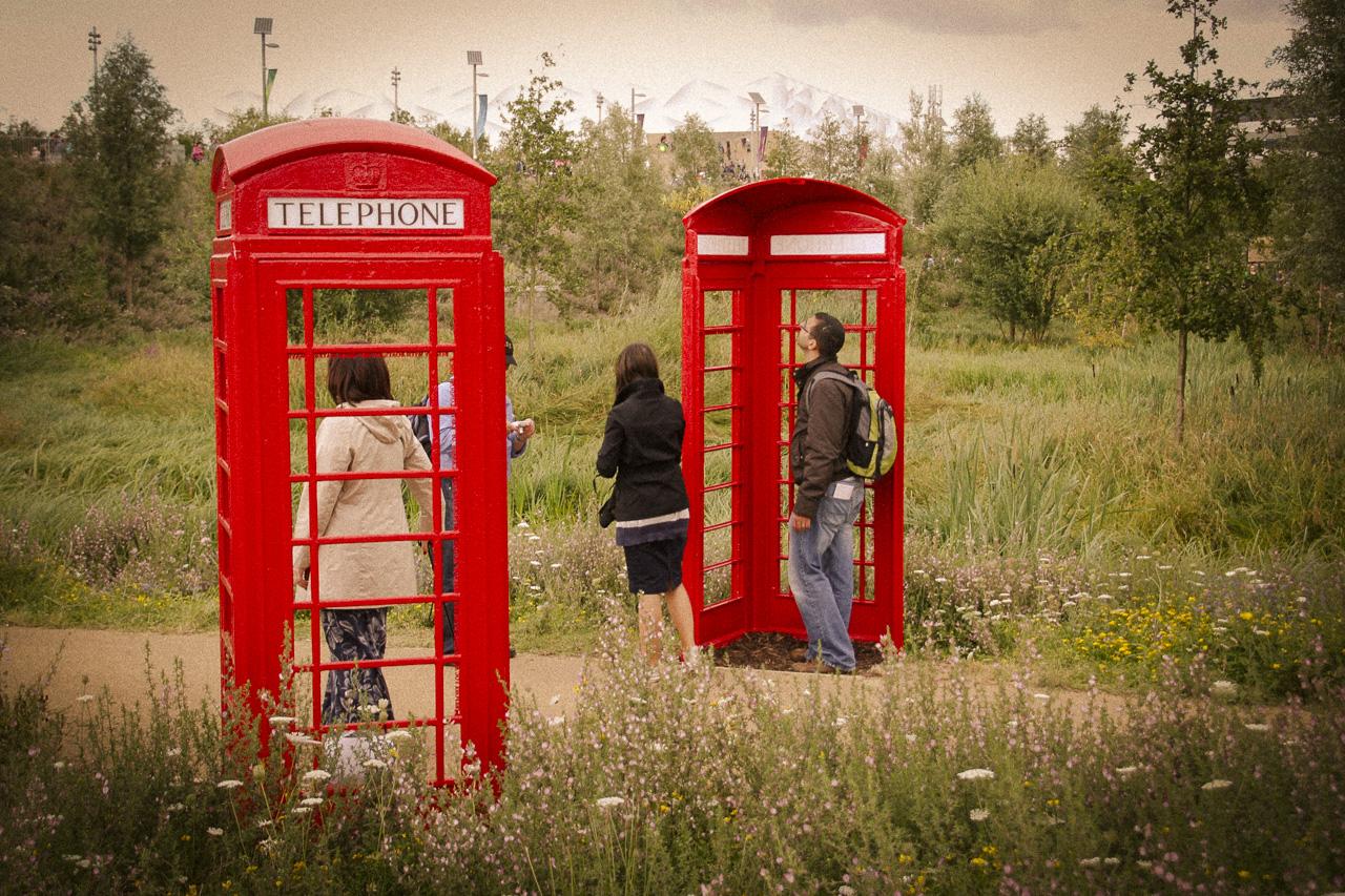 British red telephone boxes