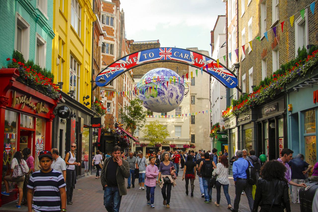 Shoppers in Carnaby Street, London