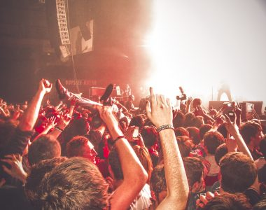 Crowds enjoy a Kasabian concert at the Odyssey Arena, Belfast