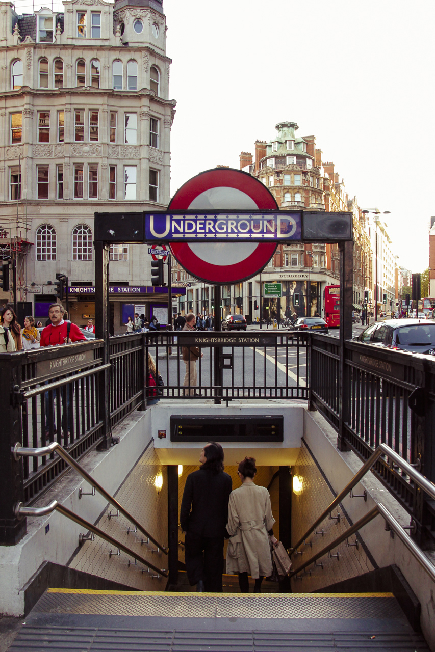 London Underground Subway - Knightsbridge London