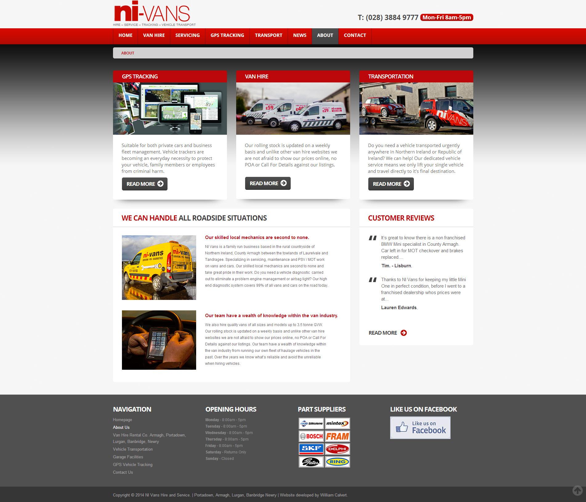 NI Van Hire Website 2