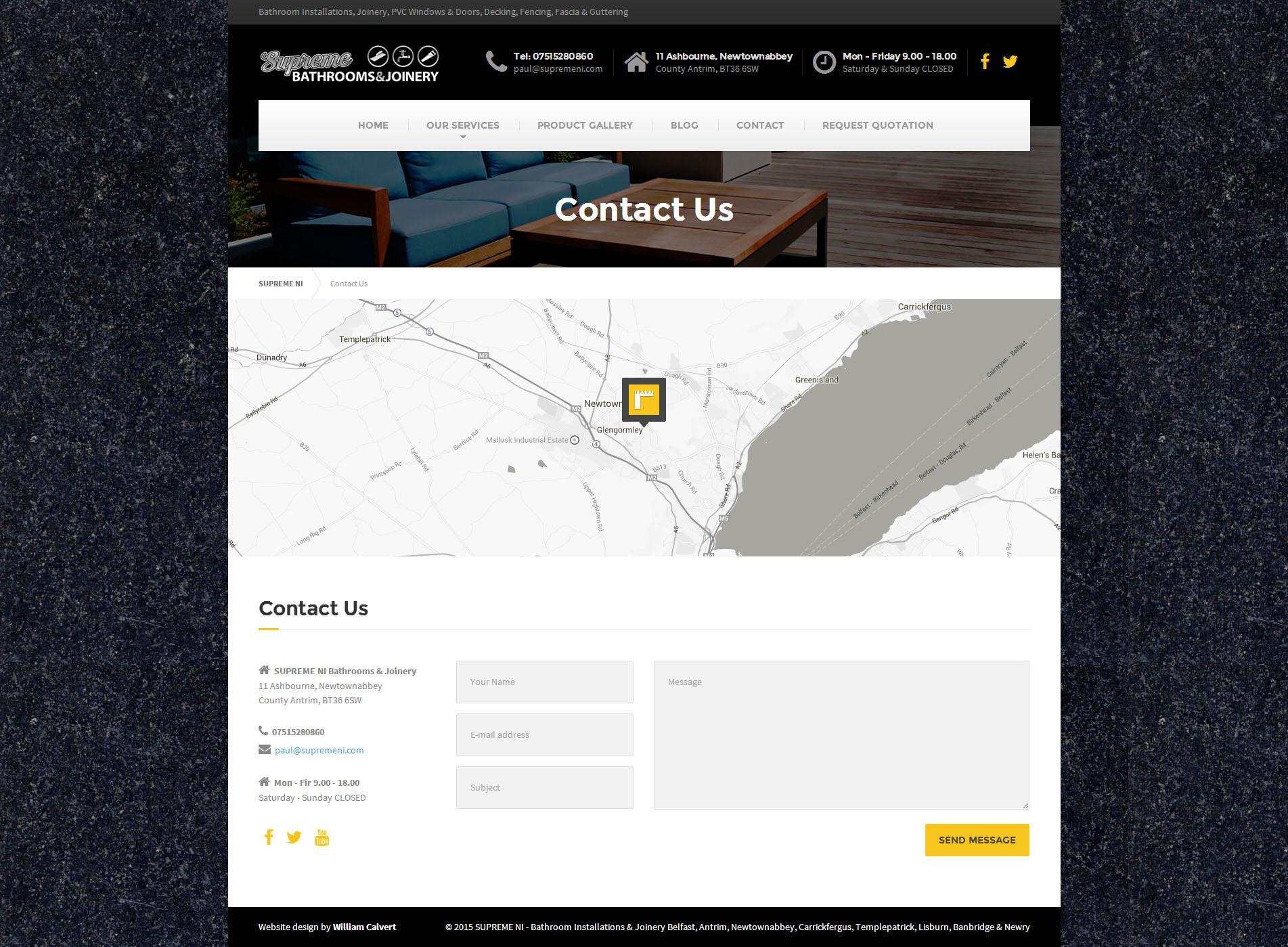 Contact Page - Supreme NI