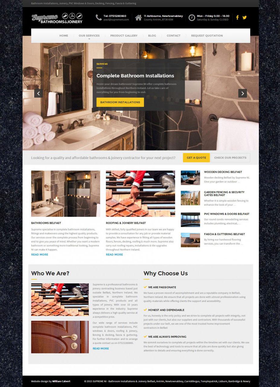 Supreme NI Homepage