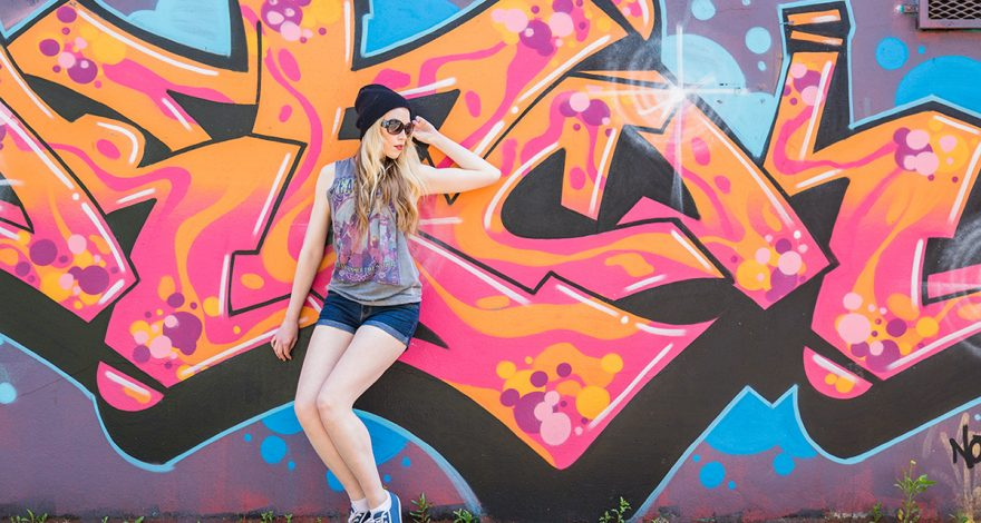 City Girl & Graffiti in Belfast - Portrait Photography Portadown by Calvert Photography