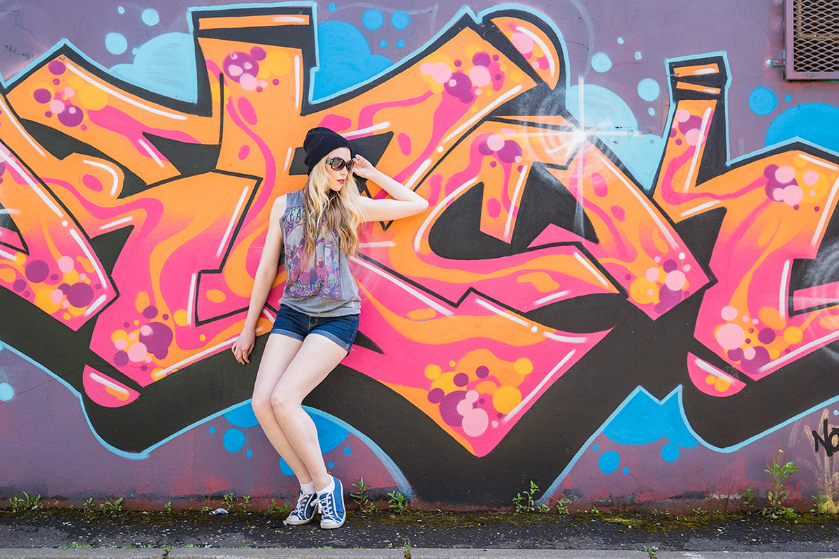 City Girl & Graffiti in Belfast