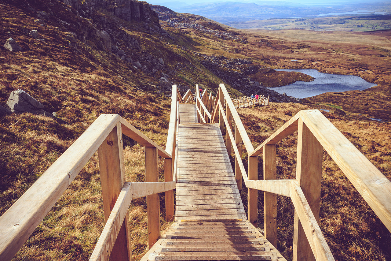 Cuilcagh Mountain Wooden Walkway, Fermanagh - Landscape Photography Northern Ireland.
