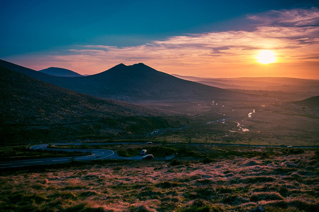 Sunset over Spelga Dam, Newcaslte Northern Ireland