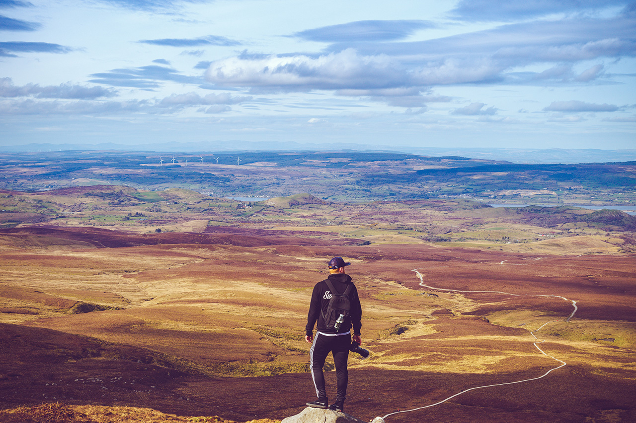 View from on top of Cuilcagh - Landscape Photography Northern Ireland.