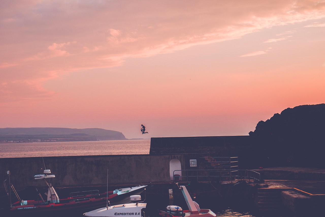 Portstewart Harbour Sunset Northern Ireland