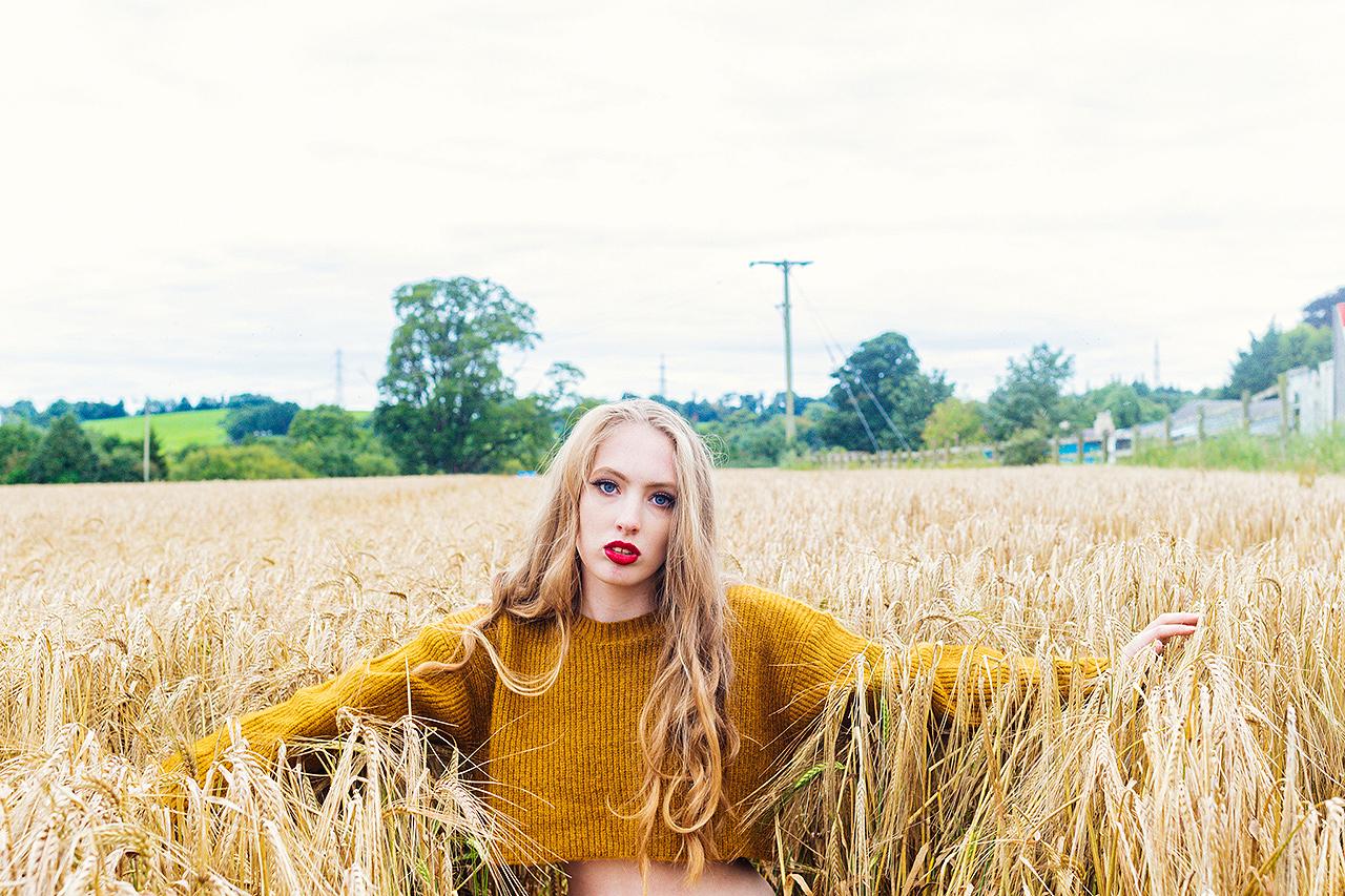 Portrait Photoshoot in Wheatfield