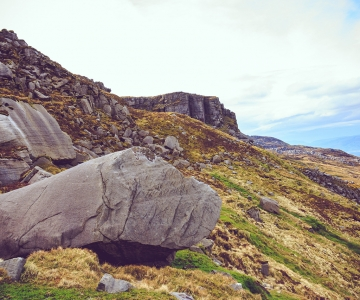 Mountain rocks at Cuilcagh, County Fermanagh Northern Ireland